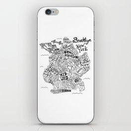 Brooklyn Map iPhone Skin