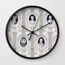 Science Women Toile de Jouy Wall Clock