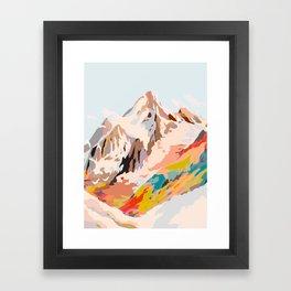 glass mountains Framed Art Print