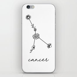 Cancer Floral Zodiac Constellation iPhone Skin