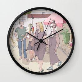 Saturday morning in Paris Wall Clock