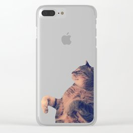 Dancing Kitty Cat Clear iPhone Case