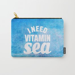 I Need Vitamin Sea Blue Carry-All Pouch