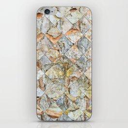 Pine bark pattern in diamonds shapes iPhone Skin
