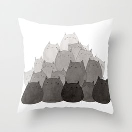 Kitty Pile Throw Pillow