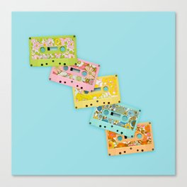 Retro Mix Tape Canvas Print
