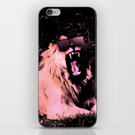 Cool Lion Chillin iPhone Skin