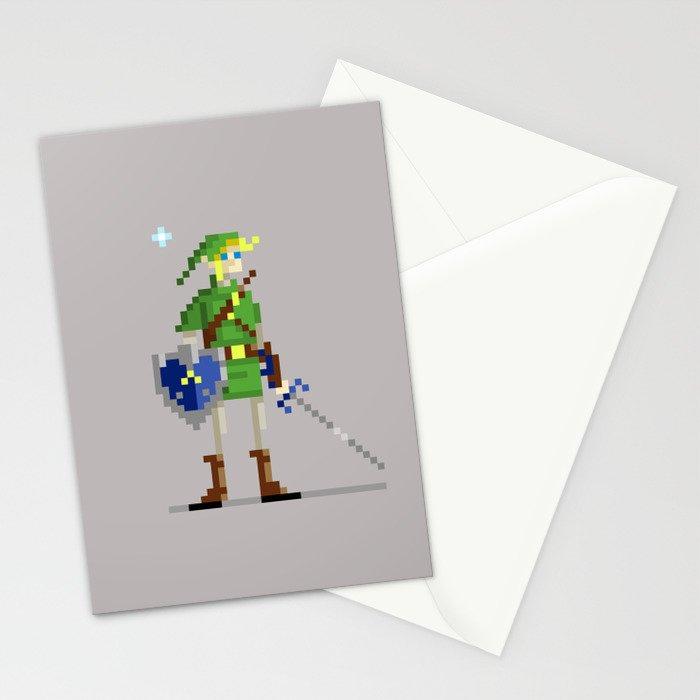 Pixel Link Stationery Cards