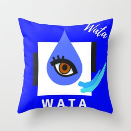 """"""" Carry On, W A T A """" Throw Pillow"""