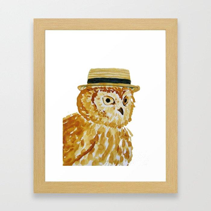 Dapper Owl or Owl Capone? Framed Art Print