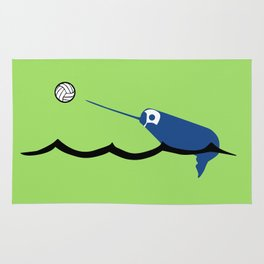 Water Polo Narwhal Rug