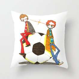 When Worlds Collide Throw Pillow