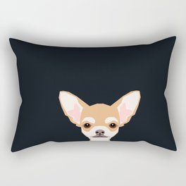 Misha - Chihuahua art print phone case gift for dog owner and dog people Rectangular Pillow