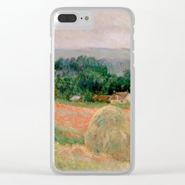 Haystack at Giverny Clear iPhone Case