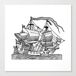 Ship Barco Bateau Schiff лодка Canvas Print