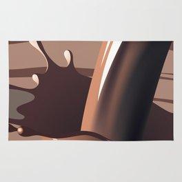 Chocolate milk splash Rug