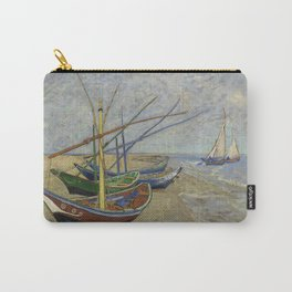 "Vincent Van Gogh ""Fishing boats on the Beach at Les Saintes-Maries-de-la-Mer"" Carry-All Pouch"