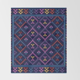 Bohemian Kilim Ethnic Pattern 1 Throw Blanket