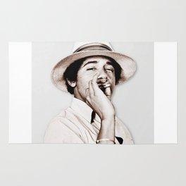 Barack Obama Smoking weed Rug