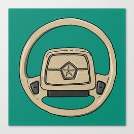 Dodge Shadow Steering Wheel Canvas Print