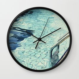 Summertime swimming Wall Clock