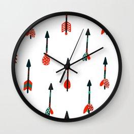 boho arrows Wall Clock