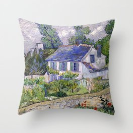 Vincent Van Gogh Houses At Auvers Throw Pillow