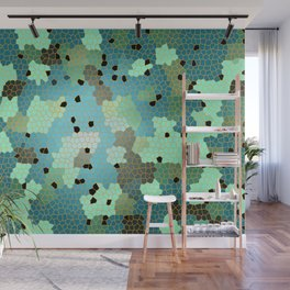 Turquoise Mosaic small pattern Wall Mural