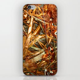 Copper and Metal Abstract iPhone Skin