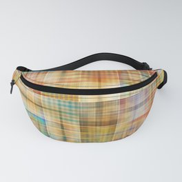Multicolored patchwork mosaic pattern Fanny Pack