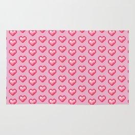 pink pixel hearts Rug