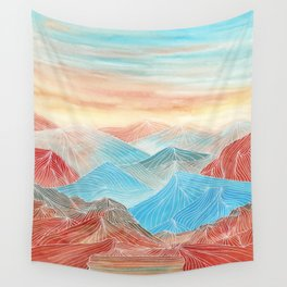 Lines in the mountains XX Wall Tapestry