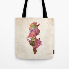 Tunisia map Tote Bag