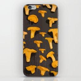 Chantterelles On A Dark Grey Background - Autumn Harvest - #Society6 #buyart iPhone Skin
