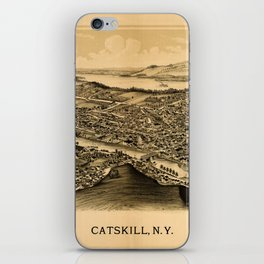 Map Of Catskill 1889 iPhone Skin