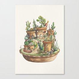 Succulent Village Canvas Print