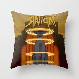 Staticat Throw Pillow