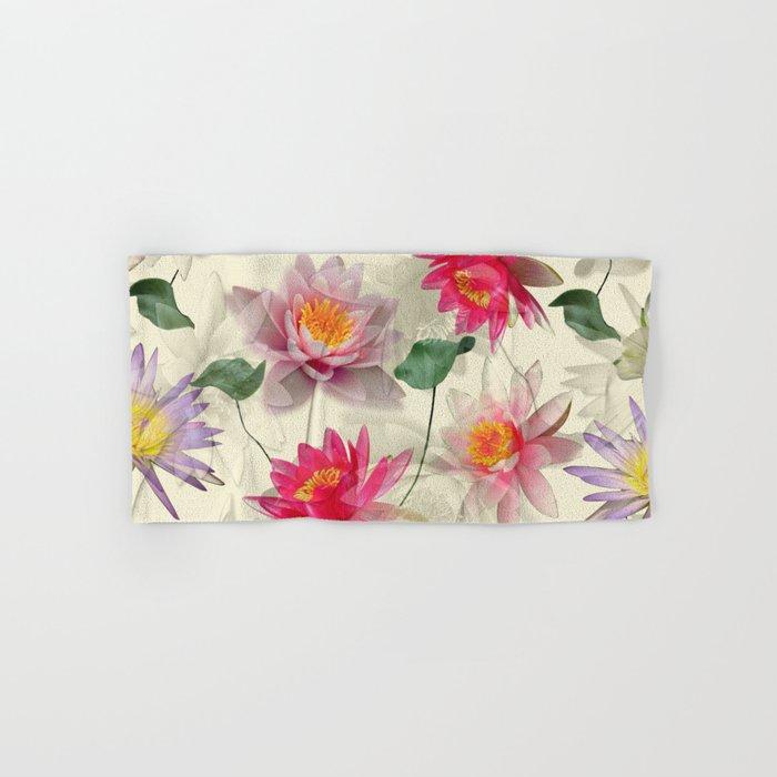 Lotus Flower Pattern Hand & Bath Towel