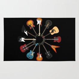 Guitar Circle Rug
