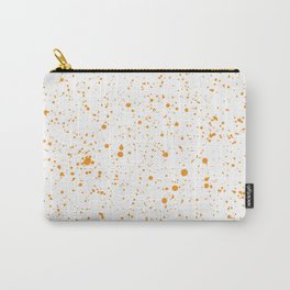 Orange Splatter Carry-All Pouch