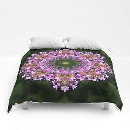 Constellation of Verbena flowers mandala Verbena bonariensis 1829 k2 Comforters