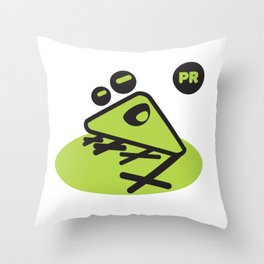 Coqui geometric Throw Pillow