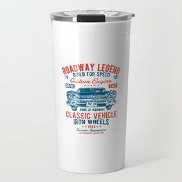 Roadway Legend - Classic Vehicle, Vintage Car Travel Mug