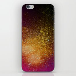 Tangerine Orange and Burgundy Spray Paint Splatter iPhone Skin