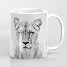 Lioness - Black & White Coffee Mug