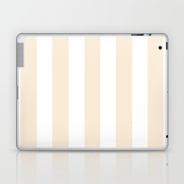 Moccasin pink - solid color - white vertical lines pattern Laptop & iPad Skin
