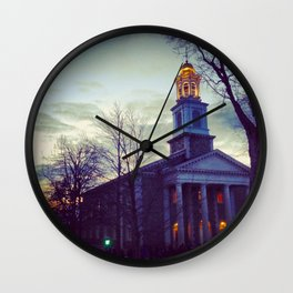 Gate at Dusk Wall Clock