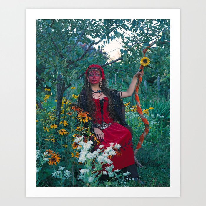 The Woman of Wands Art Print
