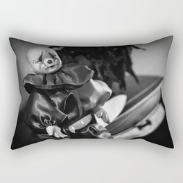 Clown Sitting Creepy Rectangular Pillow
