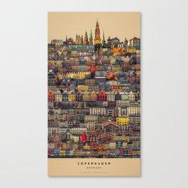 Copenhagen Facades Canvas Print